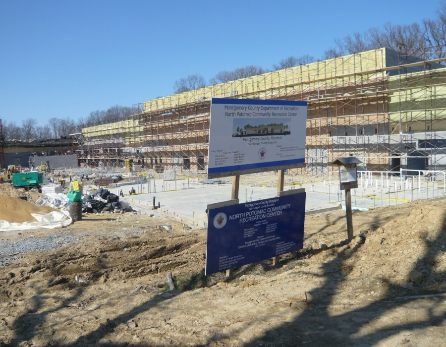 North Potomac Community Recreation Center under construction