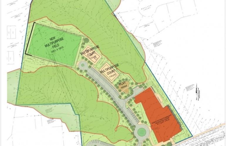 North Potomac Community Recreation Center site map