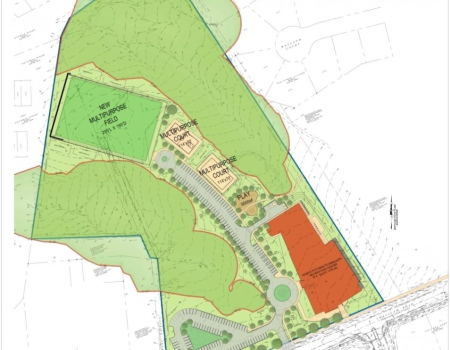 North Potomac Community Recreation Center site map