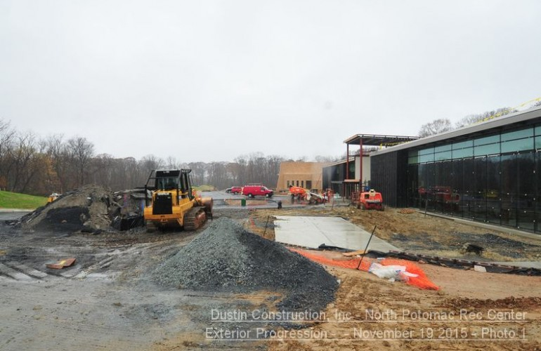 North Potomac Community Recreation Center under construction Dec. 2015