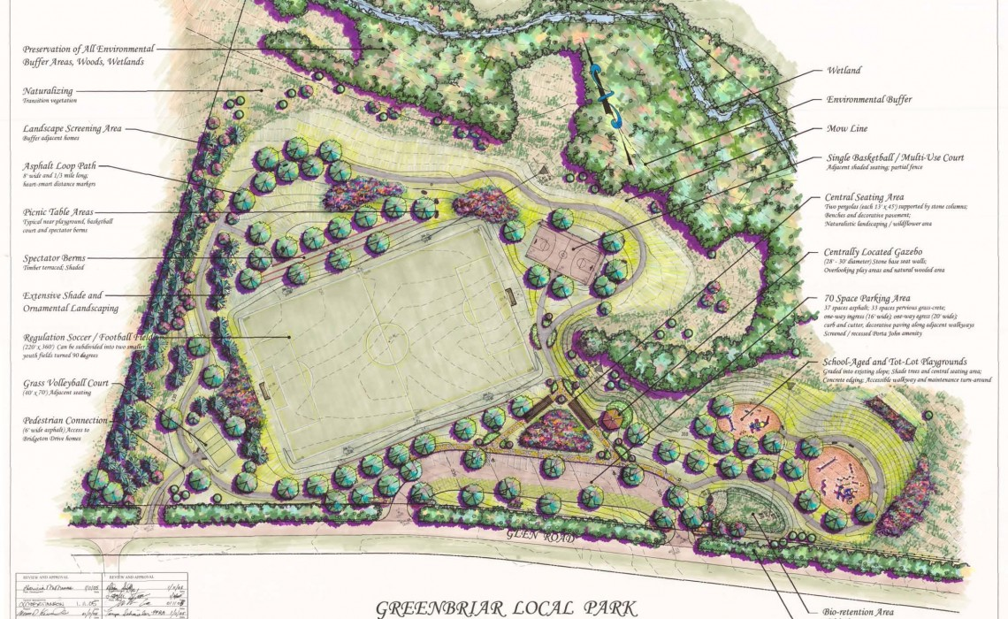 Greenbriar Local Park schematic
