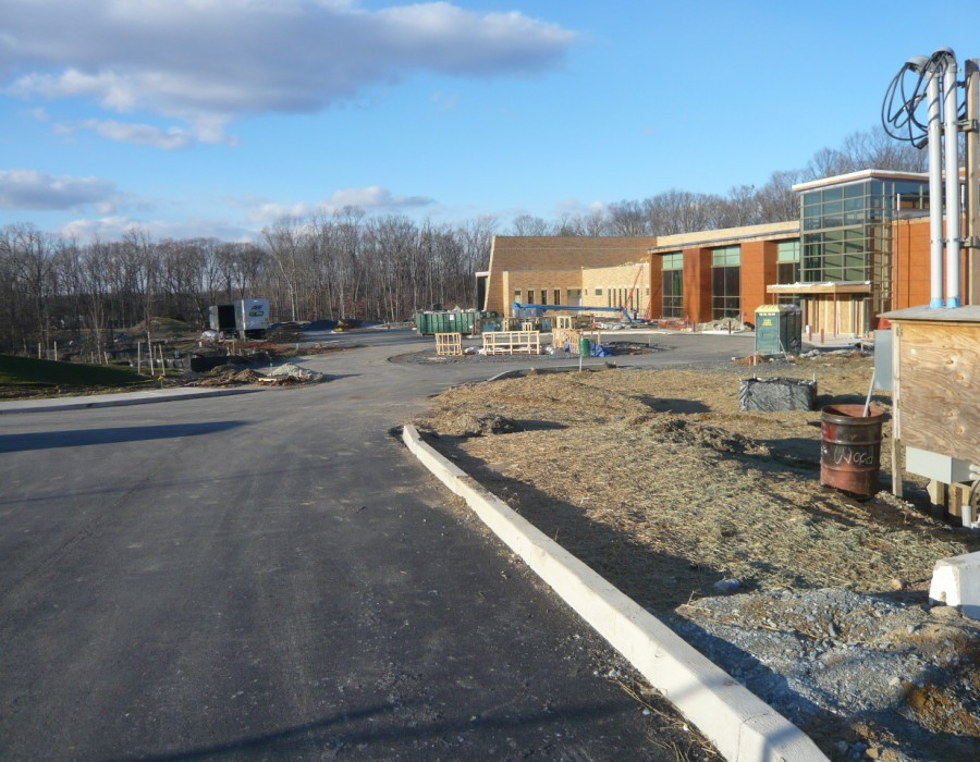 North Potomac Community Recreation Center under construction, Travilah Rd., N. Potomac, MD, Jan 2016 -1
