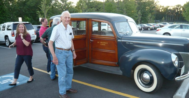 Bob Hanson and his 1940 Ford station wagon