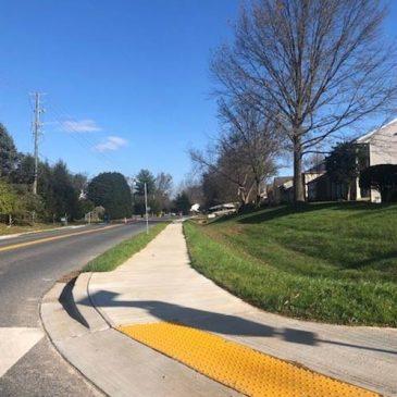 Update:  Jones Lane sidewalk completed